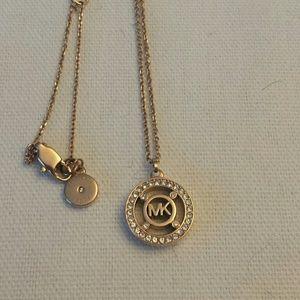Michael Kors NWOT Rose Gold tone Logo Pendant